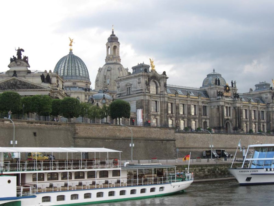 GERMANY - View of Dresden from the Elbe River