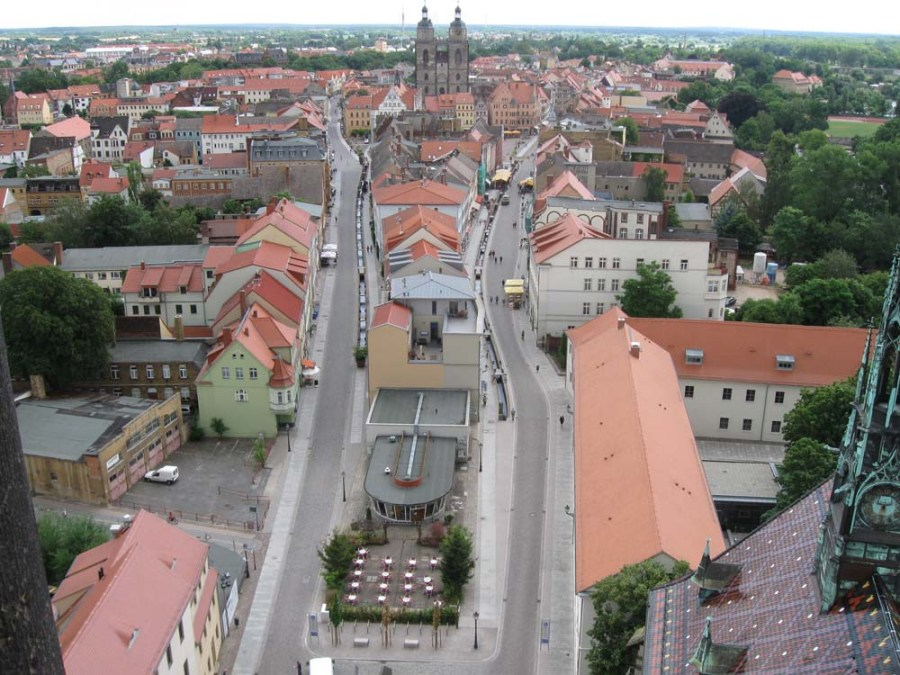 GERMANY - Wittenberg from the Castle Church tower, where the Reformation began
