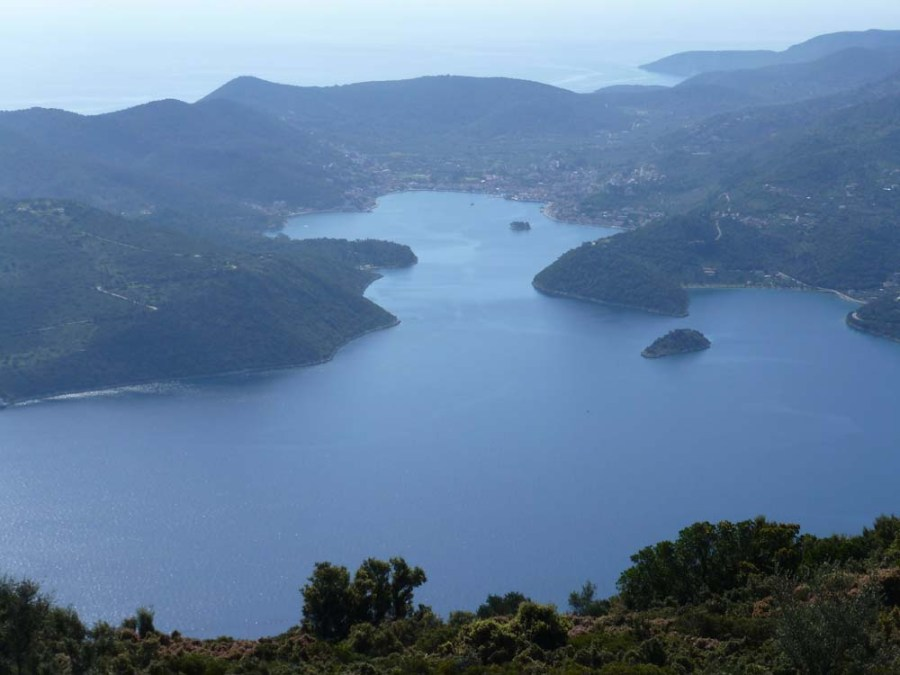 GREECE - View of Vathy from Mt. Neriton, on the island of Ithaca