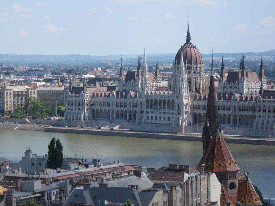 HUNGARY - Budapest and Danube River from Buda Castle