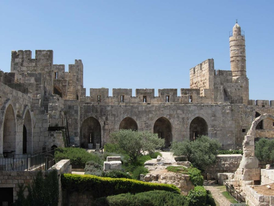 ISRAEL - Herod's Palace and Tower of David in Jerusalem