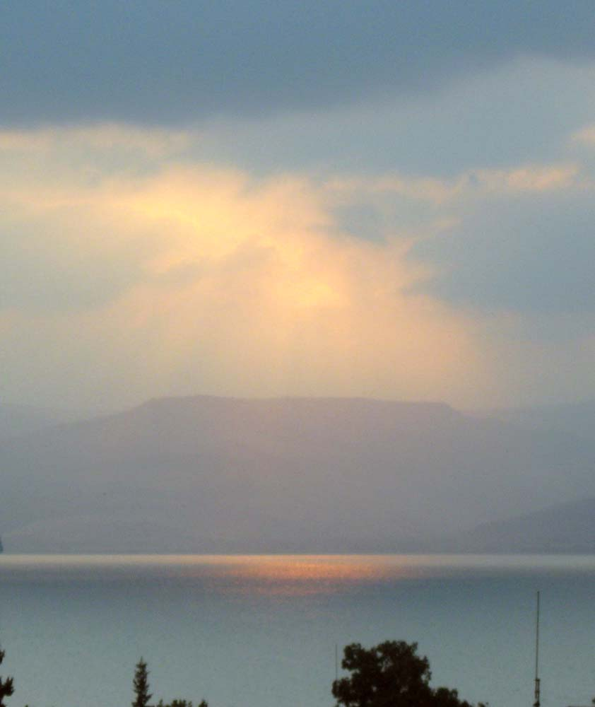 ISRAEL - Sunrise over the Sea of Galilee
