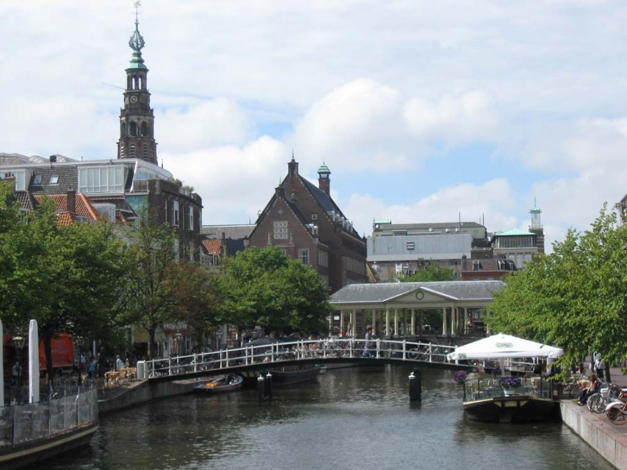 NETHERLANDS - Corn Bridge, Medieval market area in Leiden