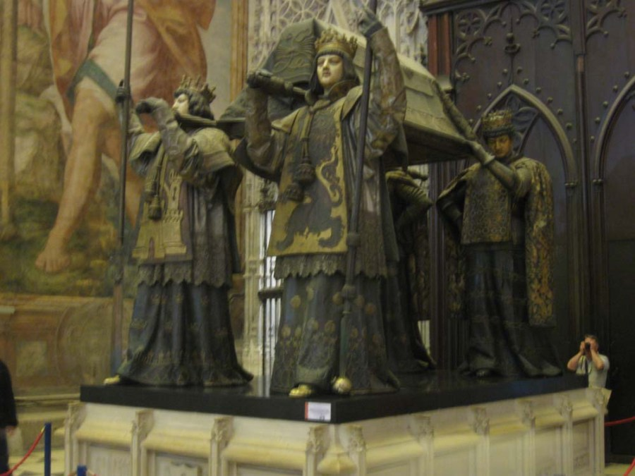 SPAIN - Burial of Columbus in Sevilla Cathedral