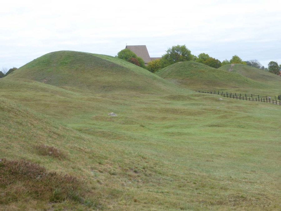SWEDEN - Viking burial mounds at Gamla Uppsala