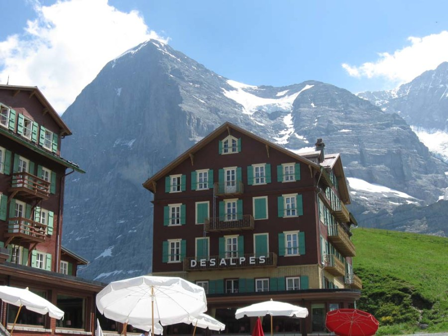 SWITZERLAND - Kleine Scheidegg with the Eiger looming behind