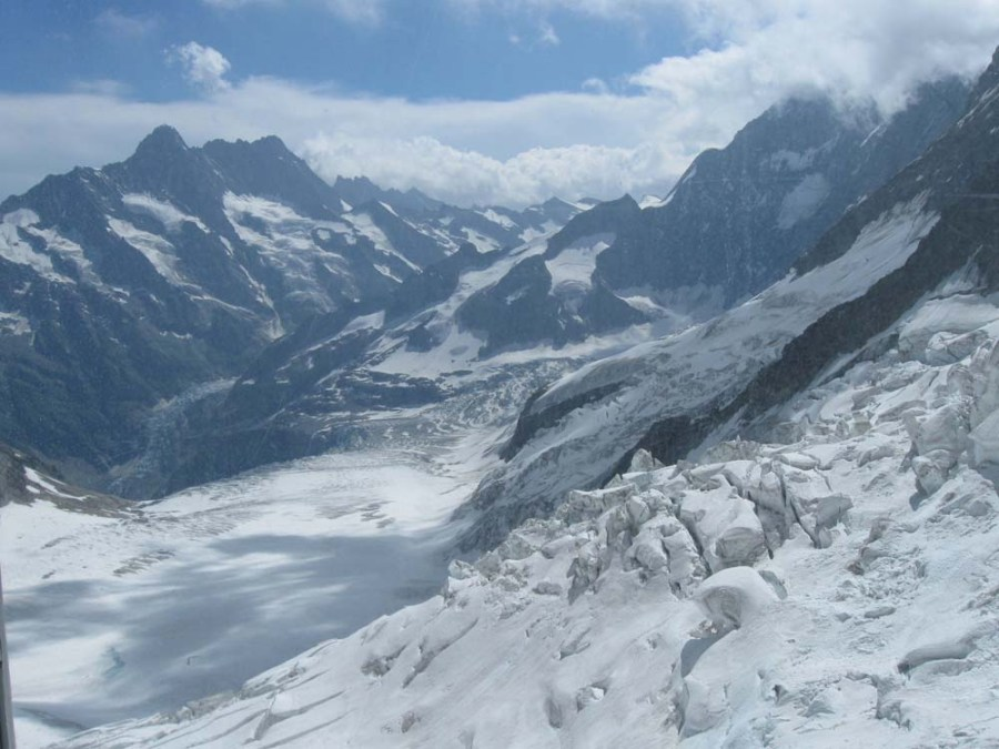 SWITZERLAND - View from high on the Eiger